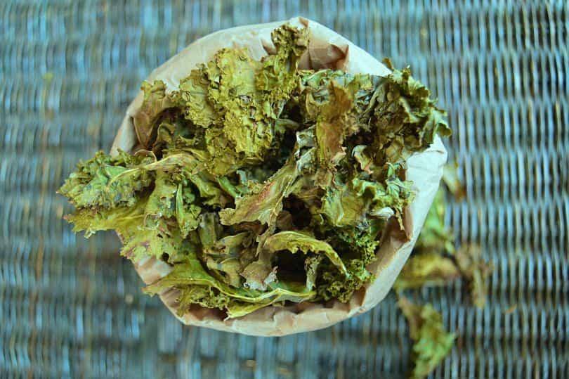Salt and Vinegar Kale Chips Sky View