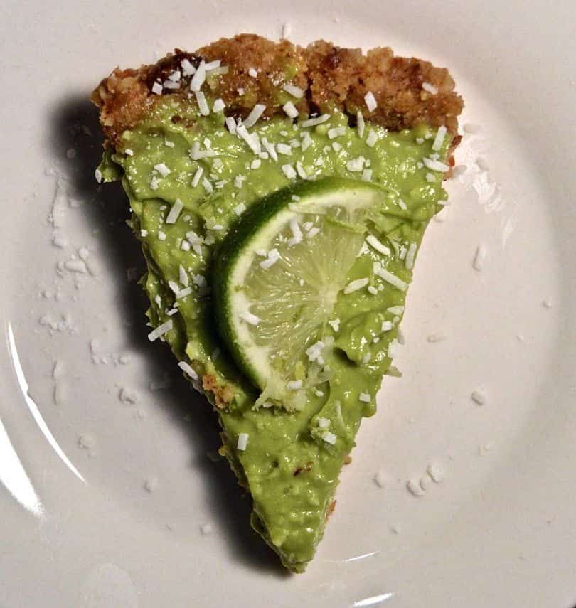 Coconut Avocado Key Lime Pie Slice Sky View
